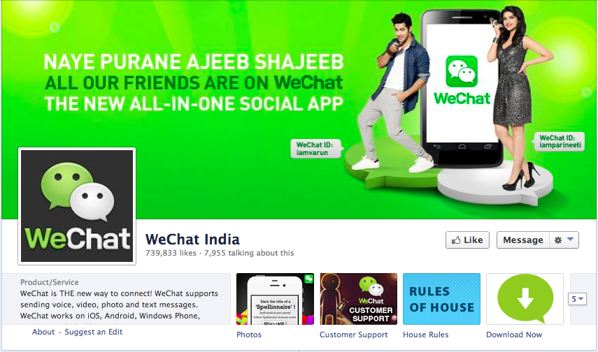 WeChat global presence