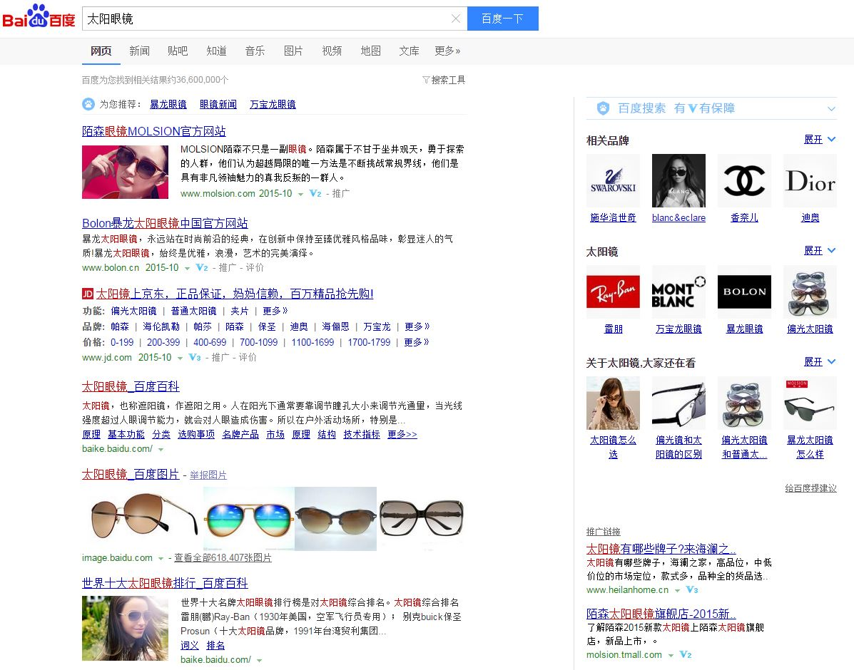 Baidu Search Results 1