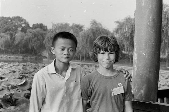 Jack Ma and his Australian pen pal David Morley in Hangzhou