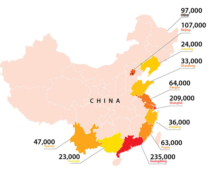china expat population